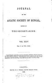 Journal of the Asiatic Society of Bengal: Volume 24, Issues 1-7