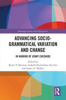 Advancing Socio grammatical Variation and Change PDF