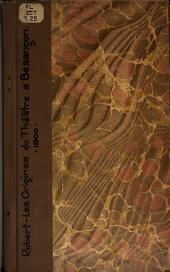 Les origines du théatre a Besancon