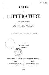 Cours de littérature profane et sacrée