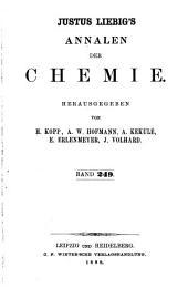 Justus Liebigs Annalen der Chemie: Bände 249-250