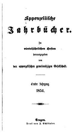 Appenzellische Jahrb  cher PDF