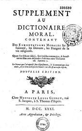 Supplement au dictionnaire moral