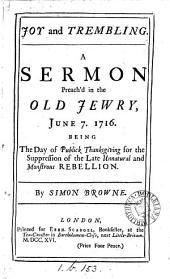 Joy and trembling, a sermon