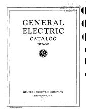 General Electric Catalog Gea 600 PDF