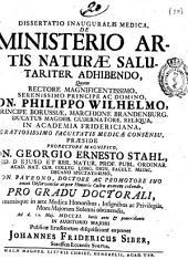 Dissertatio inauguralis medica, De ministerio artis naturae salutariter adhibendo