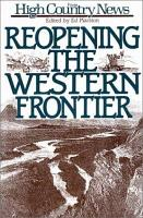 Reopening the Western Frontier PDF