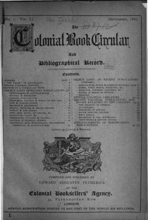 Torch and Colonial Book Circular PDF