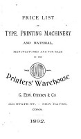 Price List of Type  Printing Machinery and Material PDF