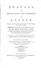 Travels of Anacharsis the Younger in Greece, During the Middle of the Fourth Century Before the Christian Era: Volume 3