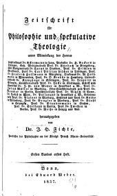 Zeitschrift für Philosophie und spekulative Theologie: Band 1
