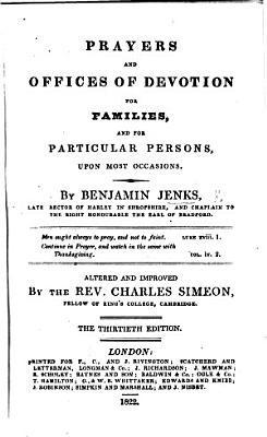 Prayers and Offices of Devotion     New edition