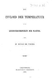 De invloed der temperatuur op de levensverschijnselen der planten