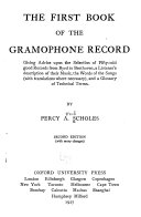 The First Book of the Gramophone Record PDF