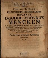 Ordinis ICtorum ... Decanus Godfr. Ludovicus Mencken ... lectoribus omnium ordinum honorotissimis s: Page 4