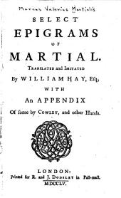Select Epigrams of Martial