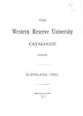 Catalogue of the Officers and Students in the Western Reserve College