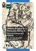 Historia antigua de la pen  nsula ib  rica II    poca tardoimperial y visigoda PDF