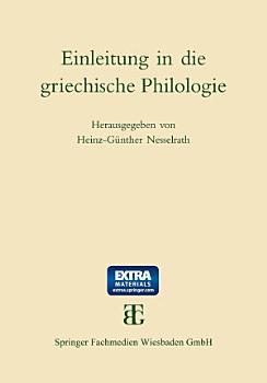 Einleitung in die griechische Philologie PDF