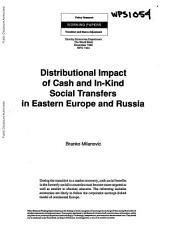 Distributional Impact of Cash and In- Kind Social Transfers in Eastern Europe and Russia
