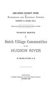 Dutch Village Communities on the Hudson River: Volume 4
