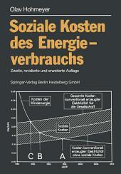 Soziale Kosten des Energieverbrauchs: Externe Effekte des Elektrizitätsverbrauchs in der Bundesrepublik Deutschland, Ausgabe 2