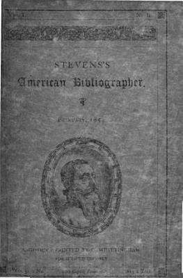 S  s American Bibliographer PDF
