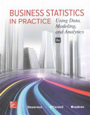 Business Statistics in Practice  Using Data  Modeling  and Analytics Book