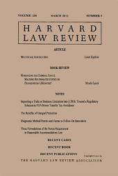 Harvard Law Review: Volume 126, Number 5 - March 2013