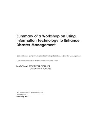 Summary of a Workshop on Using Information Technology to Enhance Disaster Management