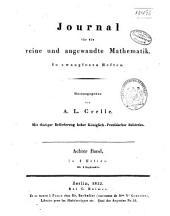 Journal für die reine und angewandte Mathematik: Volume8