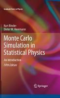 Monte Carlo Simulation in Statistical Physics PDF
