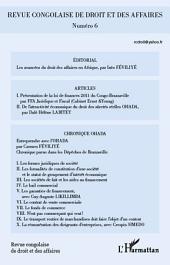 Revue congolaise de droit et des affaires n° 6
