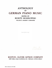 Anthology of German piano music: Modern composers