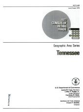1977 Census of Retail Trade: Geographic Area Series, Tennessee, Volume 3