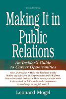 Making It in Public Relations PDF