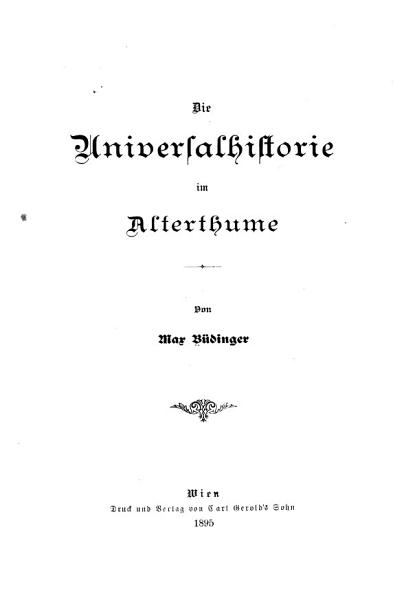 Die Universalhistorie im Alterthume PDF