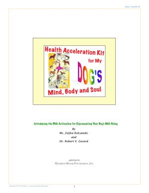 Health Acceleration Kit for My Dog s Mind  Body and Soul PDF