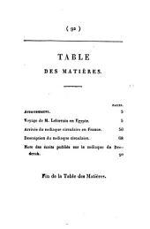 Notice sur le voyage de m. Lelorrain, en Égypte; et observations sur le zodiaque circulaire de Denderah: Volume7