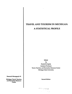 Travel and Tourism in Michigan PDF