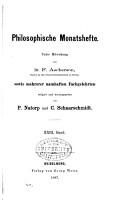 Archiv f  r systematische Philosophie und Soziologie PDF