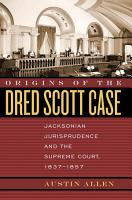 Origins of the Dred Scott Case PDF