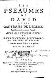 Les Psaumes de David et les cantiques de l'Eglise