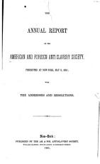 The     Annual Report of the American   Foreign Anti Slavery Society PDF