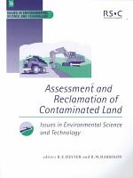 Assessment and Reclamation of Contaminated Land PDF