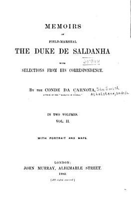 Memoirs of Field Marshal the Duke de Saldanha PDF