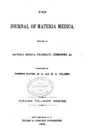 Journal of Materia Medica: Volume 7