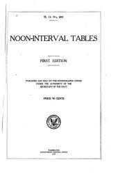 Noon-interval Tables