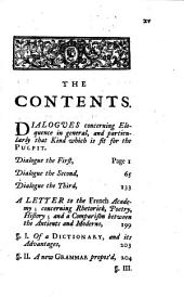 Dialogues concerning eloquence in general; and particularly that kind which is fit for the pulpit: by the late archbishop of Cambray. With his Letter to the French academy, concerning rhetoric [&c.]. by W. Stevenson