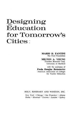 Designing Education for Tomorrow s Cities